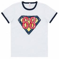 T-shirt Sun68 Hero Garçon blanc (2-6 ans)