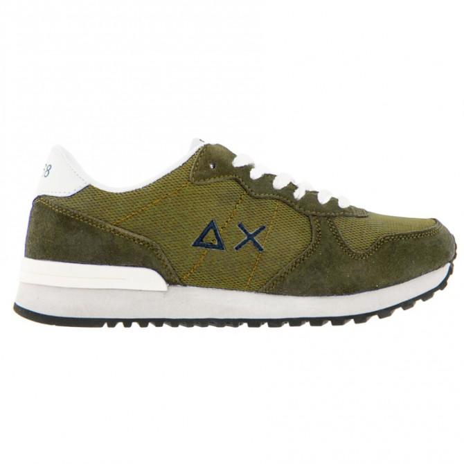 Sneakers Sun68 Running Solid Color Uomo verde militare SUN68 Scarpe moda
