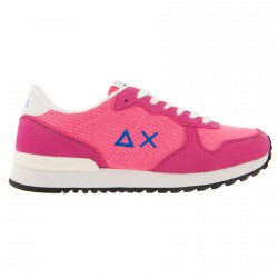 Sneakers Sun68 Running Fluo Color Mujer fucsia