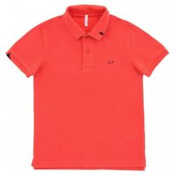 Polo Sun68 Vintage Solid Bambino rosso (2-6 anni)