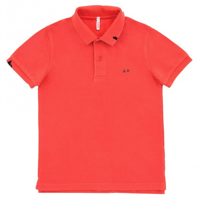 Polo Sun68 Vintage Solid rosso