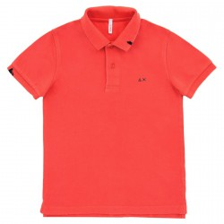Polo Sun68 Vintage Solid Bambino rosso (12 anni)