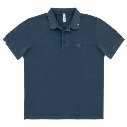 Polo Sun68 Vintage Solid Homme navy