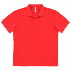 Polo Sun68 Vintage Solid Hombre rojo