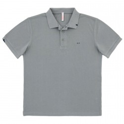 Polo Sun68 Vintage Solid Man light grey