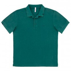 Polo Sun68 Vintage Solid Homme vert