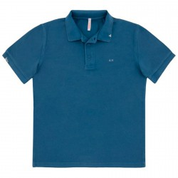 Polo Sun68 Vintage Solid Homme royal