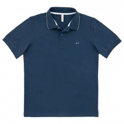 Polo Sun68 El. Small Stripe Homme navy