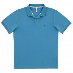 Polo Sun68 El. Small Stripe Hombre azul