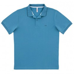 Polo Sun68 El. Small Stripe Uomo avio