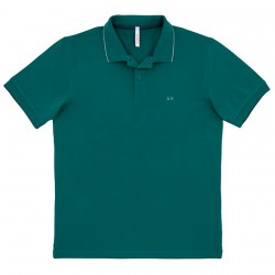 Polo Sun68 El. Small Stripe Homme vert