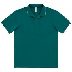 Polo Sun68 El. Small Stripe Man green