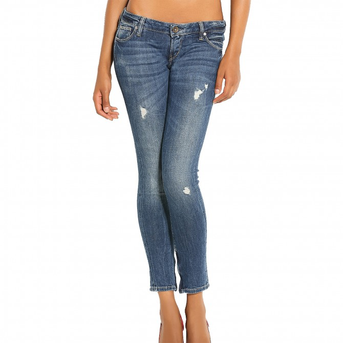 jeans Guess Skinny Tale Ultra Low Donna