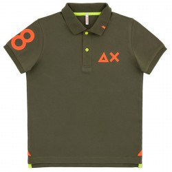 Polo Sun68 El. 68 Patch Fluo Junior green (4-6 years)