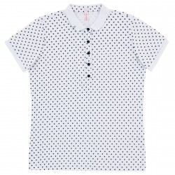 Polo Sun68 El. Full Pois Woman white