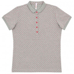 Polo Sun68 El. Full Pois Woman grey