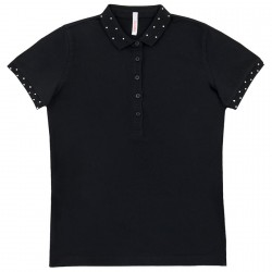 Polo Sun68 El. Diamond Donna nero