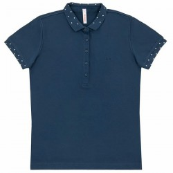 Polo Sun68 El. Diamond Woman navy