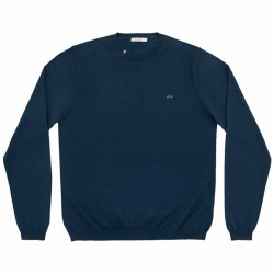 Sweater Sun68 Solid Man navy