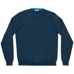 Sweater Sun68 Double Rib Man navy