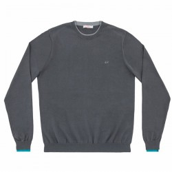 Pull-over Sun68 Double Rib Homme gris