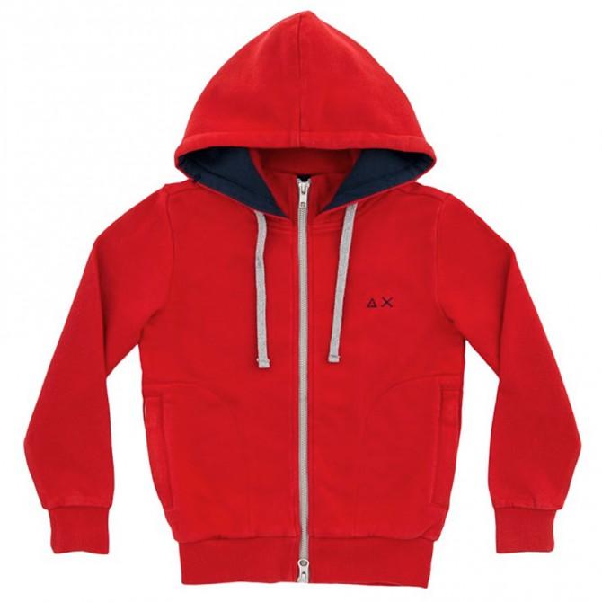 Felpa Sun68 Hood Bambino rosso (16 anni)