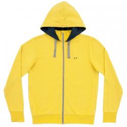 Felpa Sun68 Hood Uomo giallo