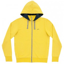 Sweatshirt Sun68 Hood Man yellow