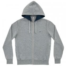 Sweat-shirt Sun68 Hood Homme gris