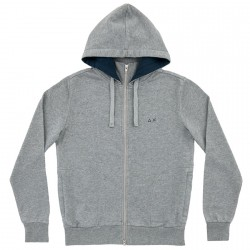 Sweatshirt Sun68 Hood Man grey