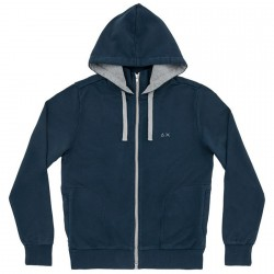 Sweat-shirt Sun68 Hood Homme navy