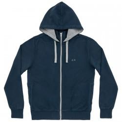 Sweatshirt Sun68 Hood Man navy