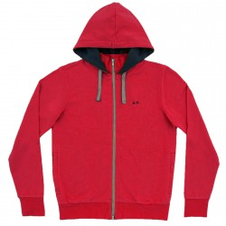Sweat-shirt Sun68 Hood Homme rouge
