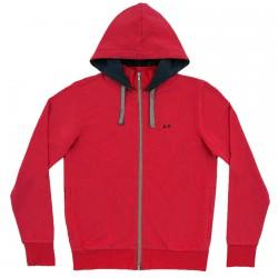 Sweatshirt Sun68 Hood Man red