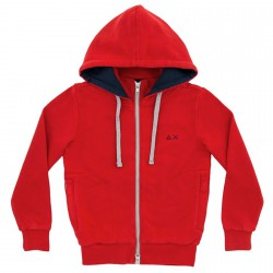 Felpa Sun68 Hood Bambino rosso (8-10 anni)