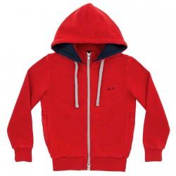 Sweat-shirt Sun68 Hood Garçon rouge (4-6 ans)