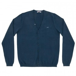 Cardigan Sun68 Solid V Homme navy
