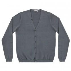 Cardigan Sun68 Solid V Hombre gris