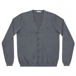 Cardigan Sun68 Solid V Man grey