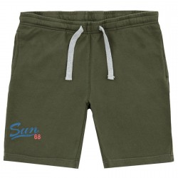 Sweat bermuda Sun68 Print Man green