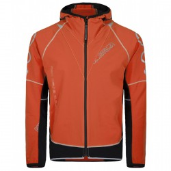 Giacca running Montura Flash arancio-nero