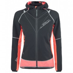 Giacca running Montura Flash nero-corallo