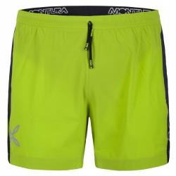 Shorts Montura Run Fast Hombre verde ácido