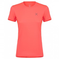 T-shirt trekking Montura World Outdoor corallo fluo