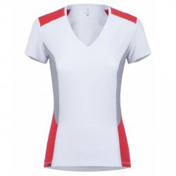 T-shirt trekking Montura Outdoor Sunny Mujer blanco-coral