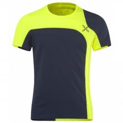 T-shirt trekking Montura Style Outdoor blu notte-giallo fluo