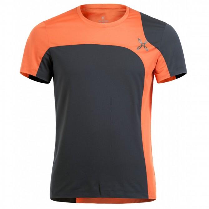 T-shirt trekking Montura Outdoor style nero-aragosta
