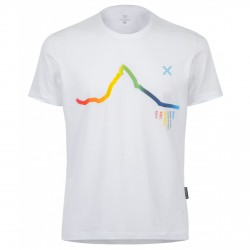 T-shirt trekking Montura Skyline Rainbow Hombre blanco