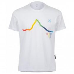 T-shirt trekking Montura Skyline Rainbow Homme blanc