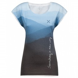 T-shirt trekking Montura Emotional azzurro-grigio